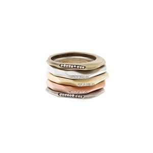 Kendra Scott Joel stacking ring set size 6
